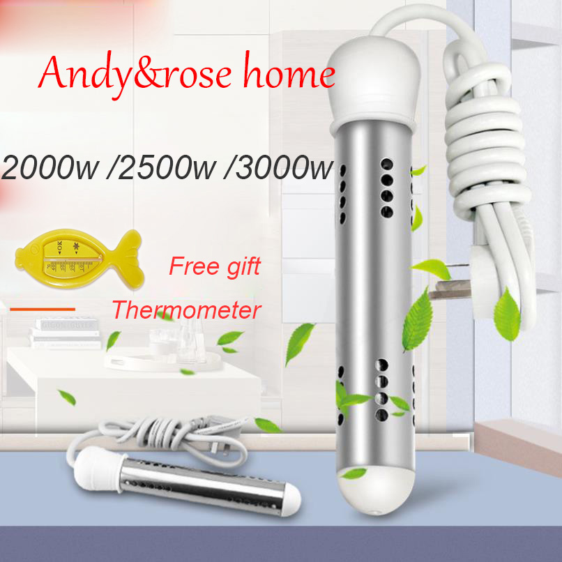 2000-3000W Electric Heater Boiler Water Heating Element Portable Immersion Suspension Bathroom Swimming Pool AU/EU/UK