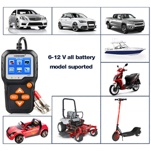 Image 3 - جهاز اختبار بطارية الدراجة النارية, جهاز اختبار بطارية الدراجة النارية 12 فولت 6 فولت KONNWEI KW650 محلل نظام بطارية 2000CCA أدوات اختبار الشحن كرنك للسيارة