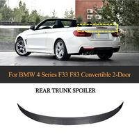 For F83 M4 Car Rear Trunk Wing Spoiler for BMW 4 Series F33 F83 M4 Convertible 2014 2019 Rear Spoiler Boot Lid Carbon Fiber