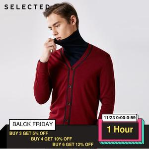 Image 1 - 選択100% ウール長袖カーディガンプルオーバーのセーターの男性のニット服t