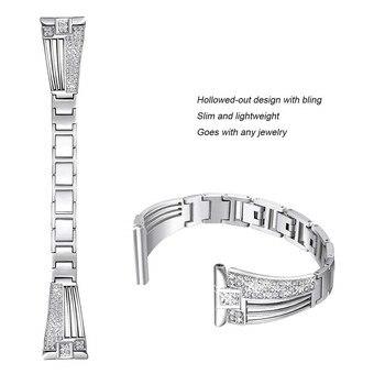 Para Fitbit Versal 2 Bandas De Metal Correa De Reloj De Pulsera De Repuesto Para Fitbit Versal/versal Correa De Reloj De Diamantes De Imitación Lite Bling