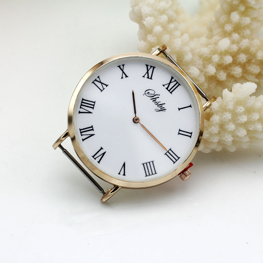 •Shsby Diy Personality Watch Header New Style Thin Large Head With Cloth Strap  Watch Accessories