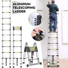 3,8 м лестница Телескопический алюминиевый сплав выдвижной Многофункциональный один раздвижная лестница складной регулируемый гипсокартон дома