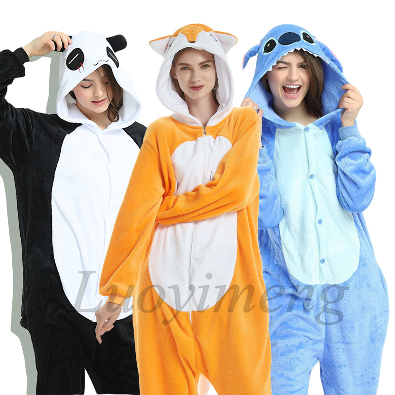 New Animal Unicorn Pajamas Adults Winter Sleepwear Kigurumi Stitch Panda Unicornio Pyjamas Women Onesie Anime Costumes Jumpsuit Blanket Sleepers    - AliExpress
