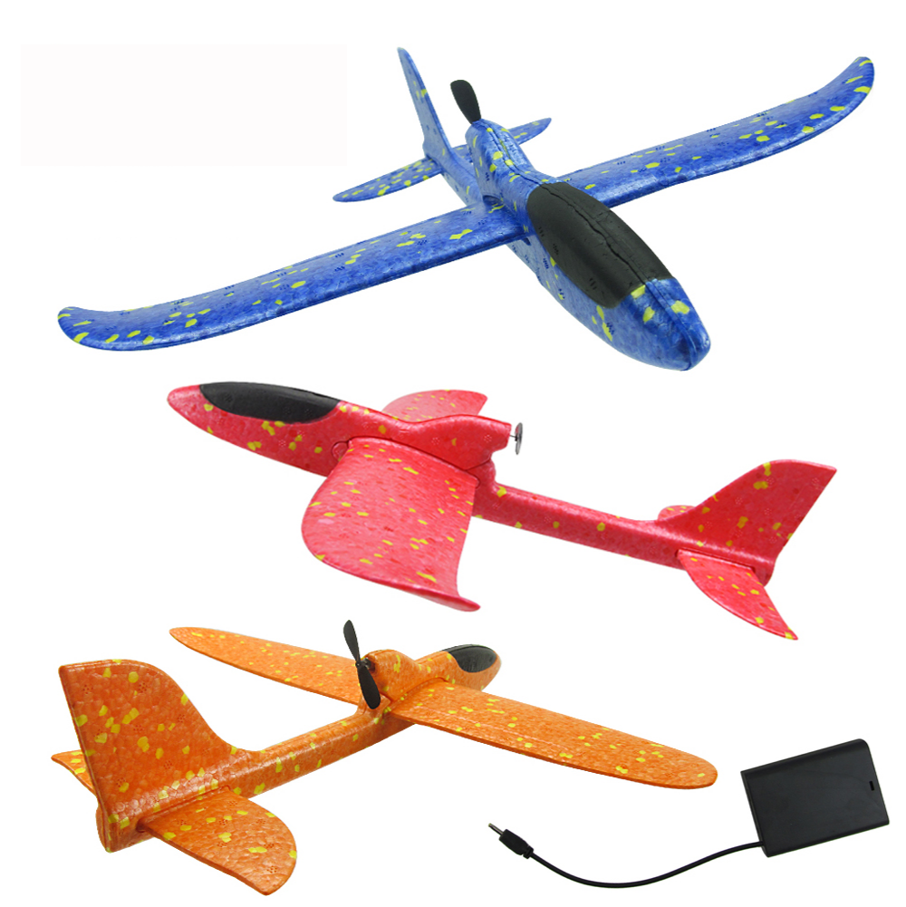 Electric Hand Throwing Foam Planes DIY Kids Toys Flying Glider Aeroplane Model Party Fillers Flying Glider Plane Toys For Kids
