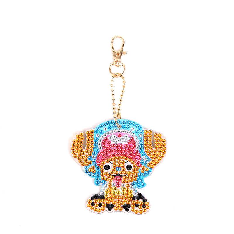 5D Diamant Malerei Keychain Spezielle Strass Stickerei Anhänger DIY Handwerk Kits Kreuz Stich Schlüssel Kette Zubehör