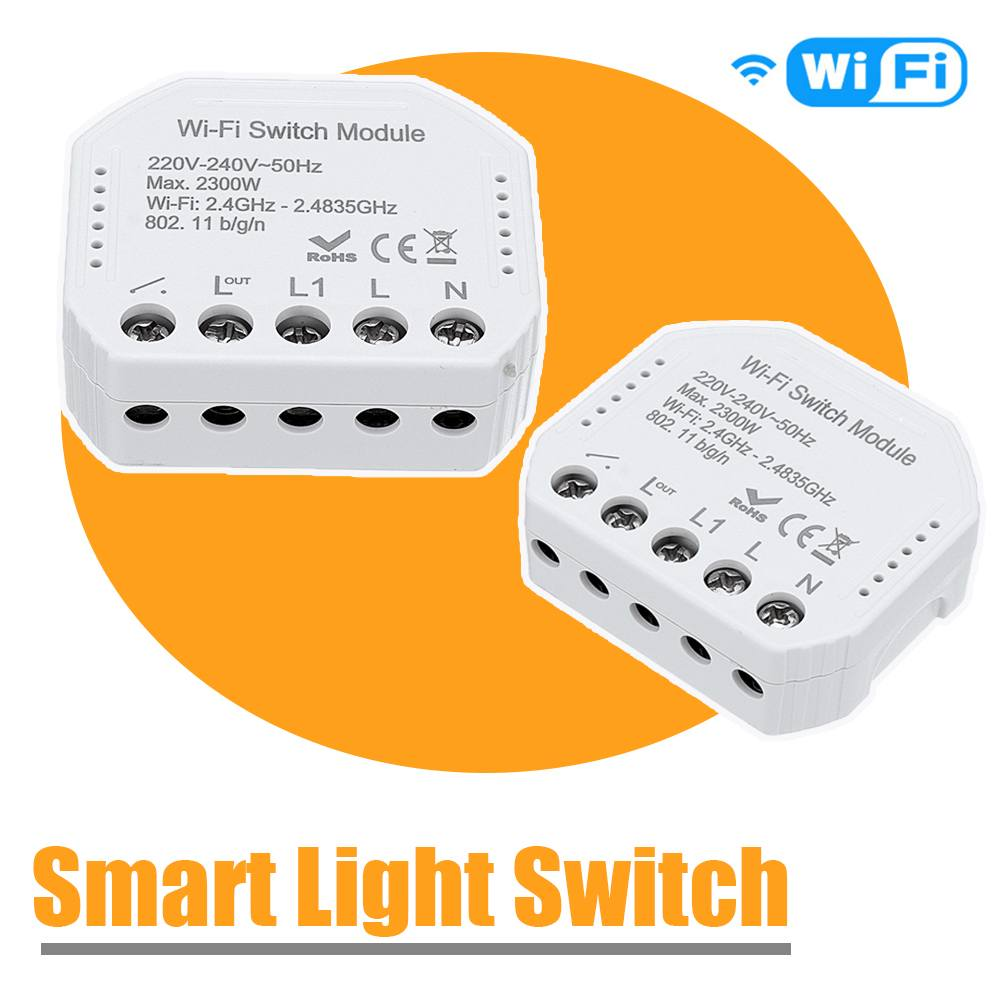 WIFI Smart Light Switch  Breaker Module Smart Life 2 Way Wireless Remote Control Works With Alexa /Google Home