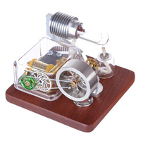 Dr. Engine Stirling Engine Model Rotating Mechanical Music Box Science Experiment Engine Model Building Toy