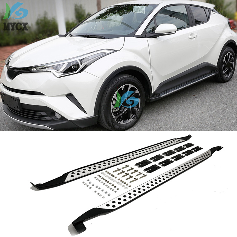 New Arrival For Toyota CHR C-HR 2018 2019 Running Board Side Step Bar Pedals,Excellent Aluminum Alloy+ABS