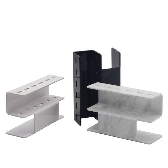 NEWCOME 1 Set Acrylic Eyelash Tweezer Storage Holder 6Pcs Convenient Tweezer Stand Shelf Holder Eyelashes extension Makeup Tool 2