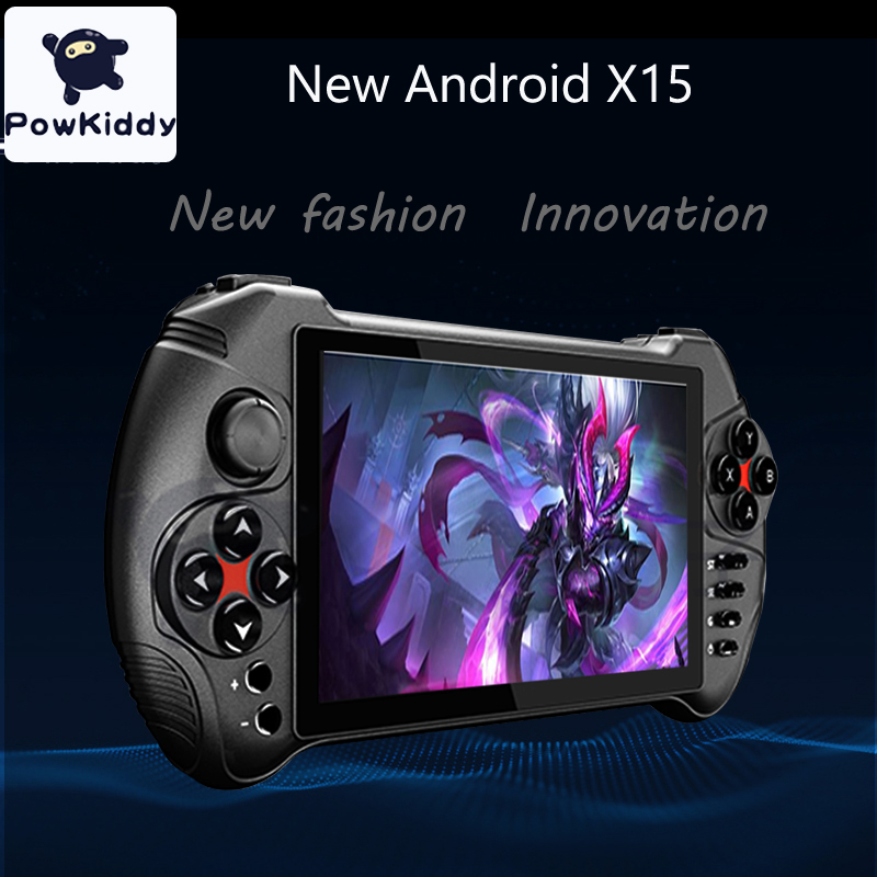 New Powkiddy 5.5 inch touch screen retro game console support android 7.0 wifi for PSP N64 MD PS GBA GBC MAME game console image