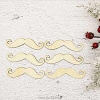 Wooden Mustache Shape for Crafts and Decoration - Laser Cut - Moustache Party - It'S A Boy - Moustache Topper