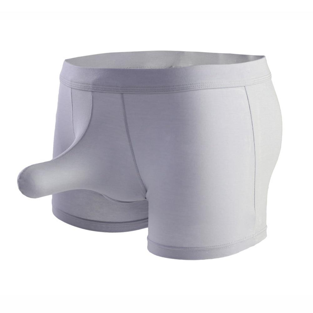 Mens Modal Sport Style Penis Sheath Hot Breathable Fun Sexy Man Boxer Underwear