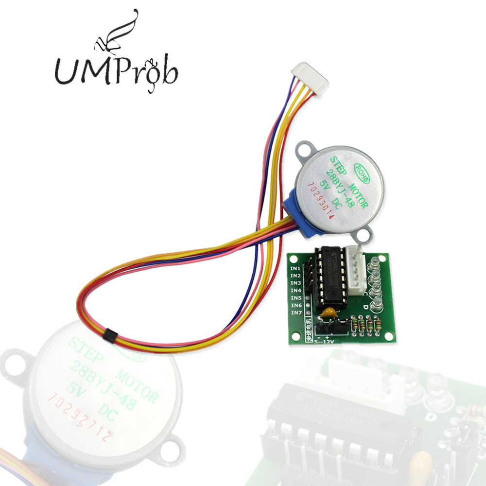 <font><b>5V</b></font> 4 Phase DC Gear Stepper Motor 28BYJ-48 + ULN2003 Driver <font><b>Board</b></font> for arduino Diy Kit image
