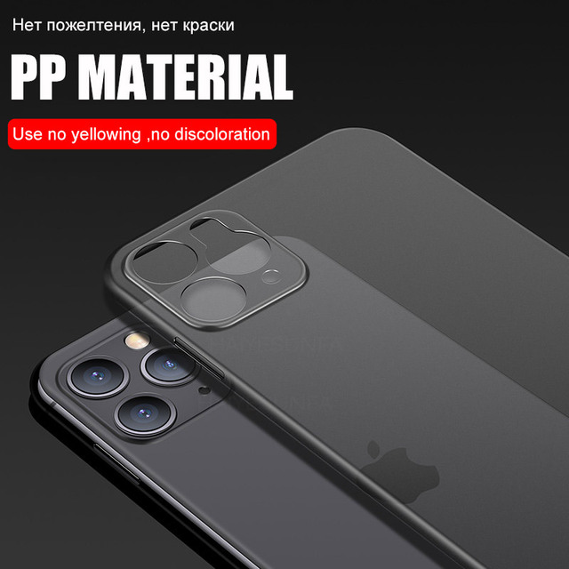 Ultra Thin 0.2mm Hard PC Phone Case For iphone 11 Pro X XR XS Max Full Cover For iphone 7 6 6s 8 Plus Matte Shockproof Case 3