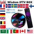 Franse Iptv Box H96MAX RK3318 Android Tv Box 9.0 + Iptv Zweden Nederland België Europa Uk Spanje Usa M3U Volwassen xxx Smart Tv Box