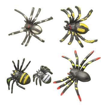 Imitation spider toy, trumpet flower spider, black scary creeper insect, spider model, fake spider image