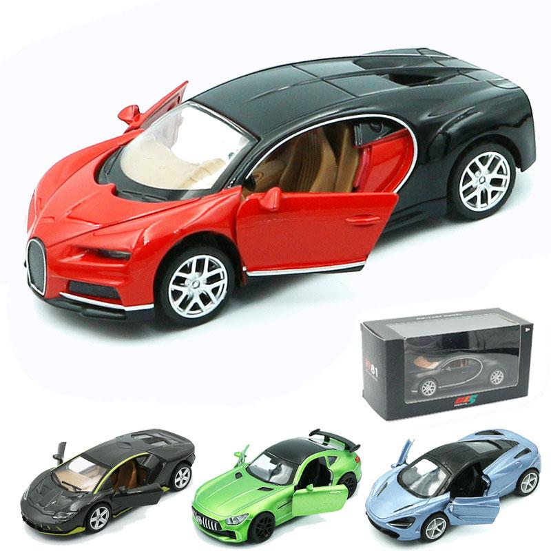 Real Alloy Lamborghini Bugatti Sports Car Mercedes Sports Car Pull Back Car Jewelry Children Collection Model Toys Free Shipping
