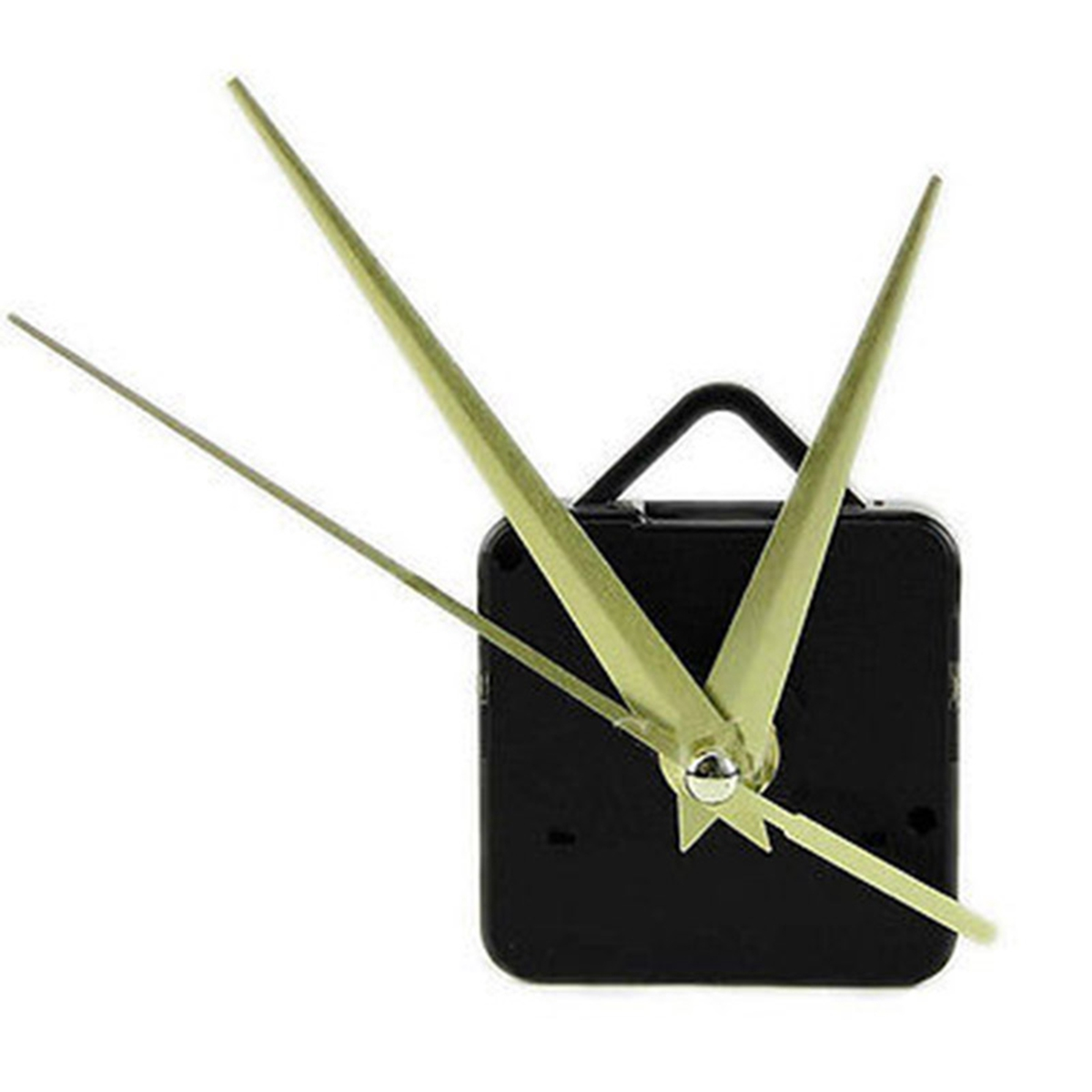 Quartz Wall Movement 22mm Length Black DIY Clock Mechanism Replacement Repair Parts Kit with Hands