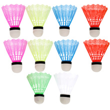 24pcs Badminton Simple Small Sport Fitness Shuttlecocks for Outdoor (White and Colorful 1 has 12pcs)
