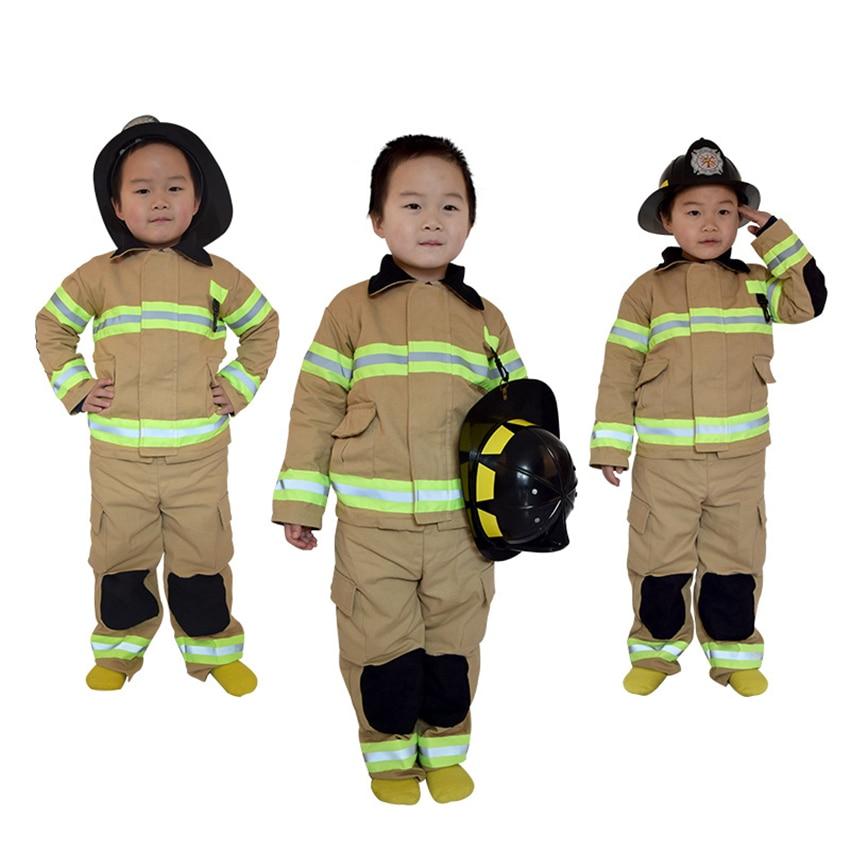 Высококачественные детские костюмы для костюмированной вечеринки «Пожарный Сэм», хлопковые и льняные вечерние костюмы для Хэллоуина, форм...