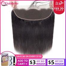 Chiusura frontale in pizzo 13x4 capelli lisci brasiliani galilelle capelli umani Remy di colore naturale 8 22 pollici gratis/medio/tre parti
