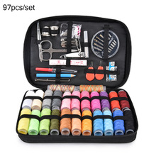 97pcs/set Multi-function Portable Sewing Kit Knitting Needles Thread Storage Box Home Travel Use Accessories Set
