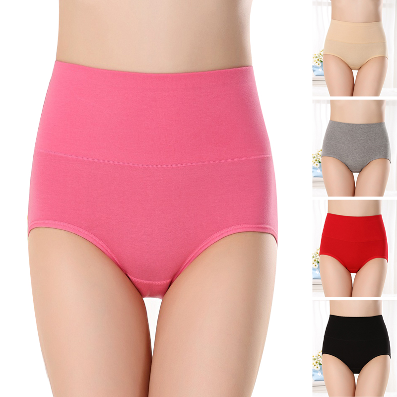 Women's Briefs Comfortable Cotton Women Sexy Ultra-thin Panties  High Waist Self-cultivation Warmth  Underwear