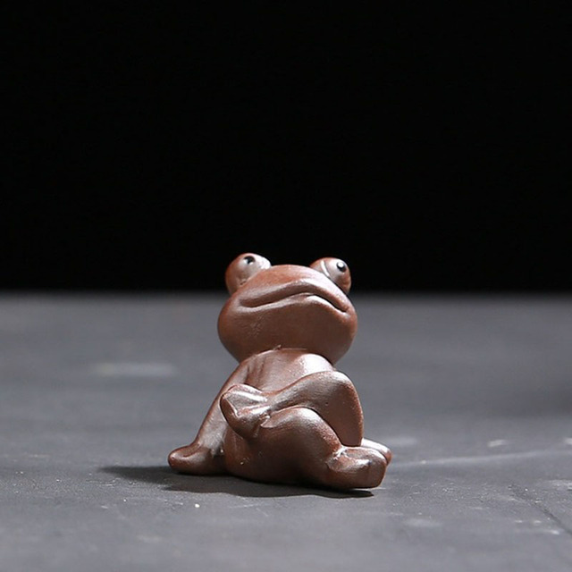 Mini Ceramic Crafts Creative Home Crafts Figurines Miniatures Tea Pet Bonsai Small Decoration Home Garden 3