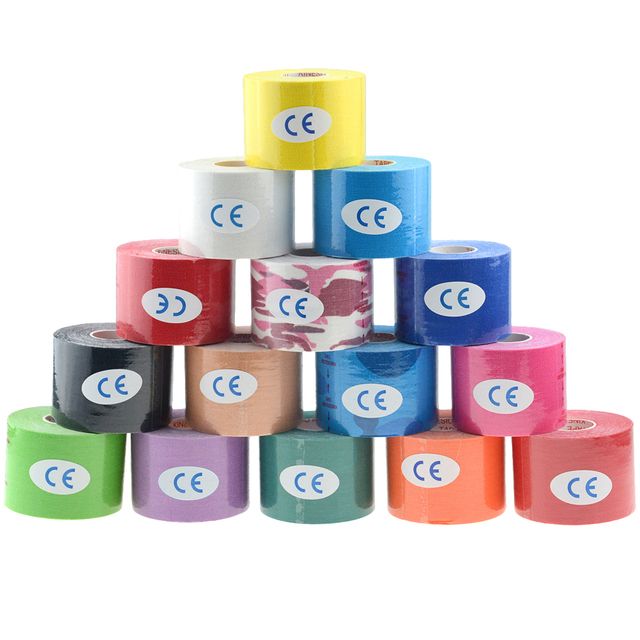 1Pc Cotton Sports Tape 2.5CMX5M Muscle Sticker Medical Bandage Intramuscular Patch Closure Kinesiology Tape Elastic Patch Tape