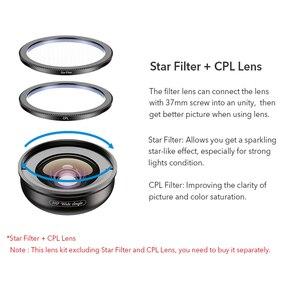 Image 4 - APEXEL HD מצלמה טלפון עדשת ערכת 110 תואר 4K רחב זווית עדשת CPL starfilter עבור iPhonex סמסונג s9 כל smartphone drop חינם