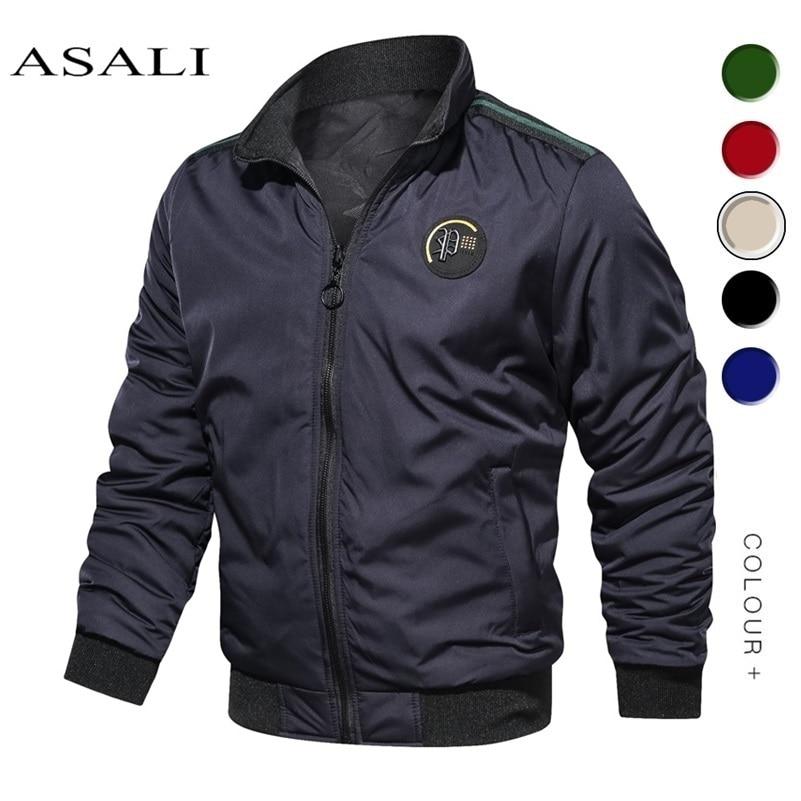 2020 Spring Autumn Streetwear Vintage Men Cotton Windbreaker Pilot Coat Army Bomber Jackets Cargo Flight Jacket Male Clothes