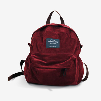 TANTO store NTMY 2019 new fashion Original creative Original Burgundy corduroy backpack