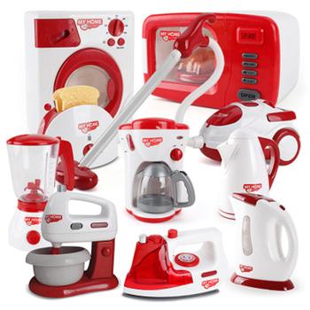 Symulacja sprzęt agd zabawki udawaj zagraj w kuchenna kawa maszyna Blender czajnik zestawy dla dzieci prace domowe zabawki do gier prezenty tanie i dobre opinie KACUU Z tworzywa sztucznego Unisex Not include battery Mini Home Appliances Toys 3 lat Symulacja urządzeń Red Green