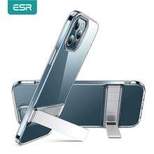 Coque arrière avec support noir pour iPhone, compatible modèles 12 Pro Max, 12 Pro