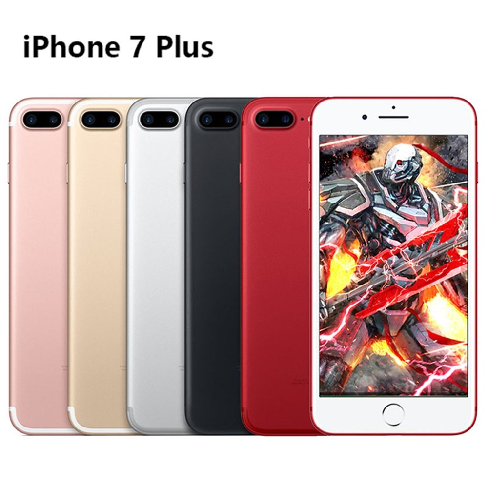 Used Apple IPHONE 7 PLUS 32G 128GB 256GB ROM Mobile Phone Quad-Core 12.0MP Camera W/ Accessories- Unlocked EU Plug