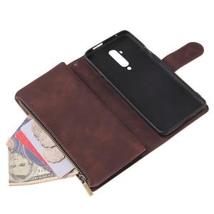 Image 4 - Funda de teléfono Oneplus 7T Pro con cremallera, billetera de cuero para Oneplus 7T 7 Pro One Plus 8 7 Oneplus 8 Pro, Funda magnética de negocios con tapa