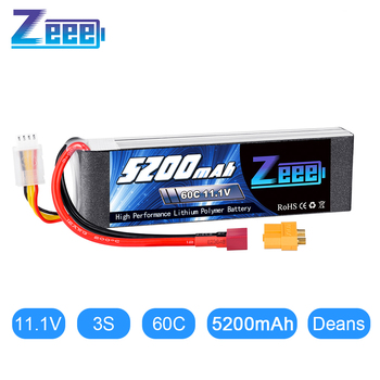 Zeee 3S Lipo Battery 11.1V 60C 5200mAh Softcase Lipo Battery with Deans Plug XT60 Connector for RC Car Truck Helicopter FPV Boat new original rechargeable zop power 11 1v 5400mah 3s 20c lipo battery xt60 plug