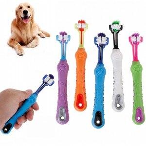 New Three Sided Pet Toothbrush