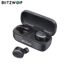 Blitzwolf BW FYE4 bluetooth V5.0 TWS gerçek kablosuz kulaklık kulaklık HiFi Stereo ses İkili çağrı bas kulak kulaklık