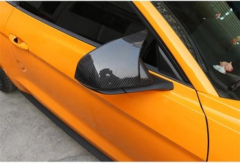 Carbon Fiber Rearview Mirror Cover Trim Protect Shell Cap Cover For Ford Mustang 2015 2016 2017 2018 2019