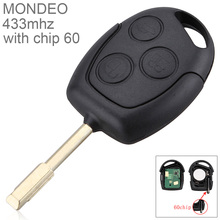 433Mhz/315Mhz 3 Buttons Replacement Remote Car Key Fob Transmitter Clicker Alarm with Chip 60 for Ford Mondeo Fiesta Focus 315mhz 4 buttons replacement remote car key fob transmitter clicker alarm with key kr55wk48903 kr55wk49622 for nissan 2007 2016
