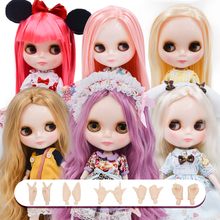 купить Neo NBL Blyth Doll Customized Shiny Face,1/6 OB24 BJD Ball Jointed Doll Custom Blyth Dolls for Girl, Gift for Collection дешево