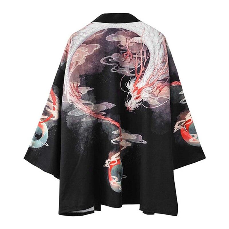 Handsome Street Clothes Japanese Traditional Costumes Men Fashion Kimono Haori Cardigan Summer Thin Jacket Beach Wear Cloak Coat