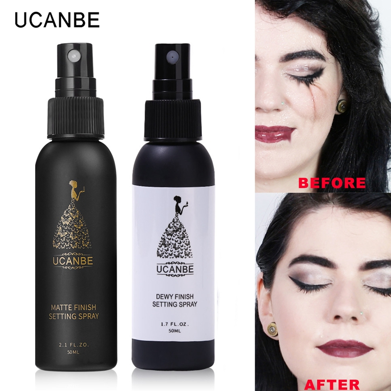 UCANBE Face Makeup Setting Spray Long Lasting Moisturizier Matte or Dewy Finishing Mist Fixer Spray Foundation Base Cosmetics image