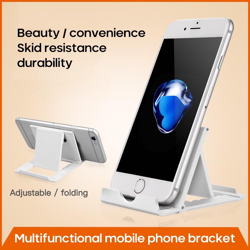 Phone Holder Cellphone Stand Universal Mobile Phone Desktop Folding Stand Tablet PC Plastic Stand Non-slip Holder