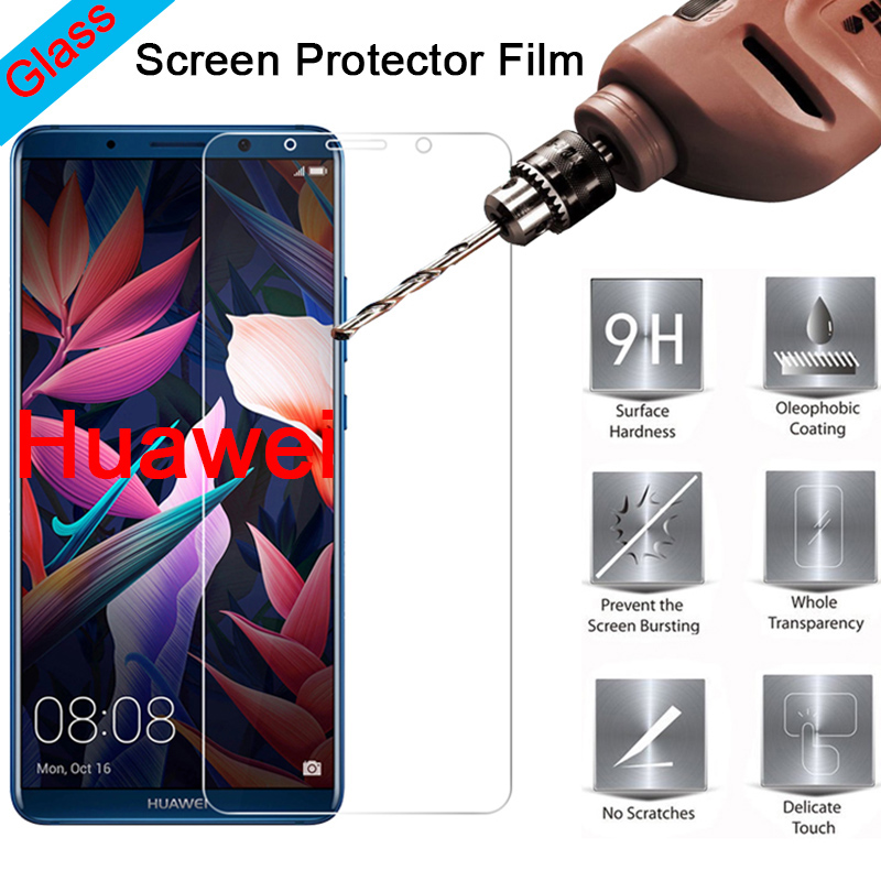 Protective Glass for Huawei Y9 2018 Y5 Y3 Pro 9H Screen Protector Hard Tempered Glass for Huawei Y6 Y7 Prime 2018 Cover Film