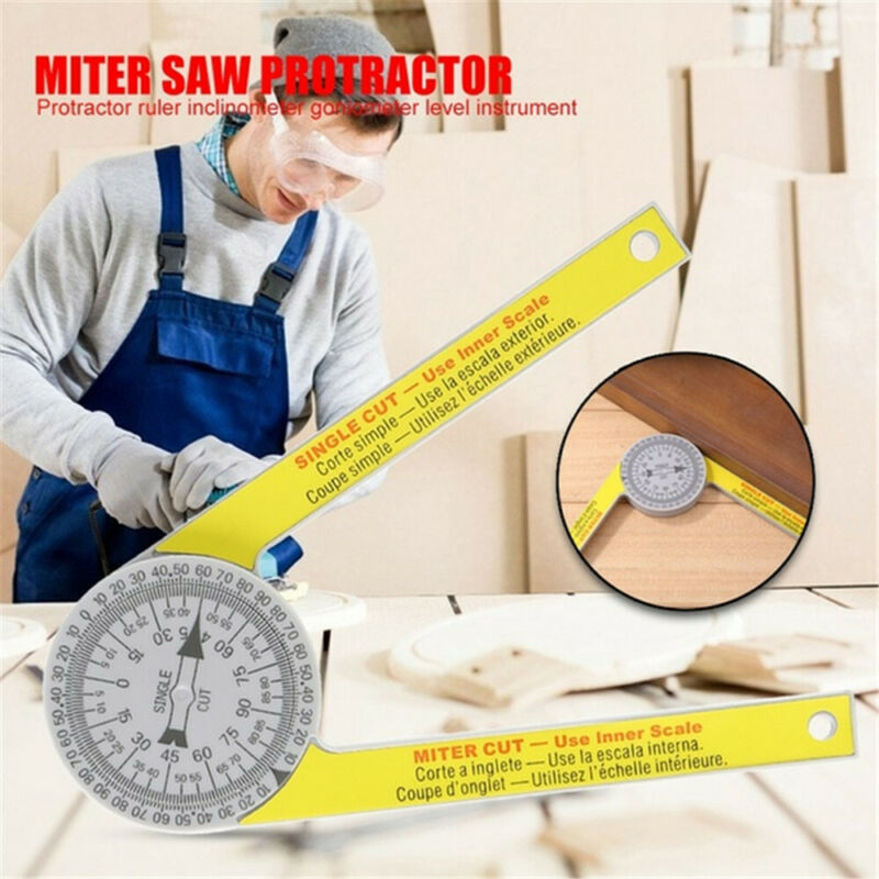 2020 New Starrett 505P-7 Miter Saw Protractor Laser Engraved Dial Measuring Layout Tool Ruler