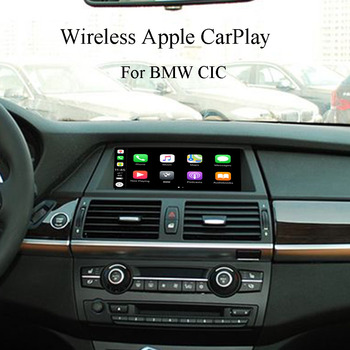 Full Voice Command iPhone App iTunes Library Send Texts Switch Idrive CarPlay Interface for BMW E60 E61 F10 F11 image