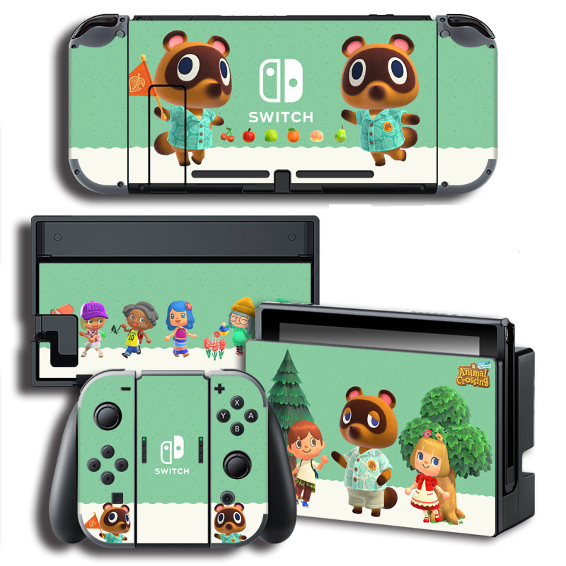 Vinyl Screen Skin Animal Crossing Protector Stickers For Nintendo